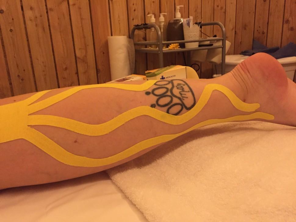 Lymfotaping vtěhotenství - pomoc od oteklých nohou